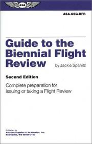 Cover of: Guide to the Biennial Flight Review  | Jackie Spanitz