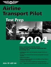 Cover of: Airline Transport Pilot Test Prep 2004