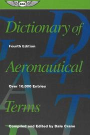 Cover of: Dictionary of Aeronautical Terms | Dale Crane