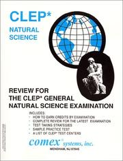 Cover of: Review For the CLEP Natural Science Examination | James R. A. Frendak