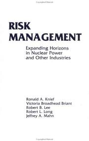 Cover of: Risk Management