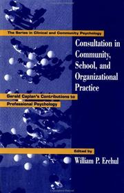 Cover of: Consultation In Community, School, And Organizational Practice