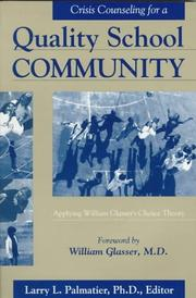 Cover of: Crisis counseling for a quality school community