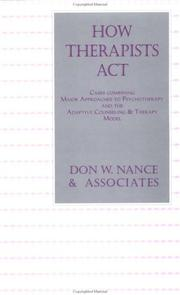 Cover of: How Therapists Act
