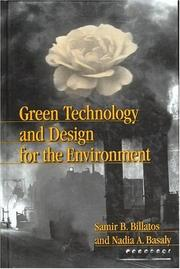 Cover of: Green technology and design for the environment