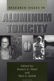 Cover of: Research Issues In Aluminium Toxicity |