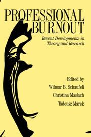 Cover of: Professional Burnout