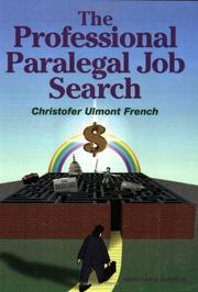 Cover of: The professional paralegal job search