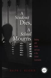 Cover of: Student Dies, A School Mourns