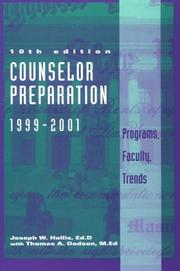 Cover of: Counselor Preparation 1999-2001