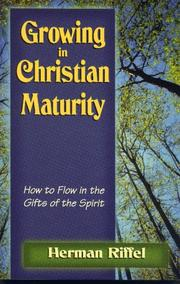 Cover of: Growing in Christian maturity
