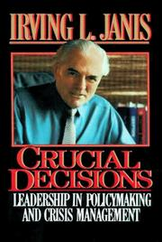 Cover of: Crucial decisions