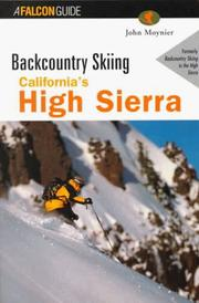 Cover of: Backcountry skiing in California's High Sierra