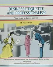 Cover of: Business Etiquette and Professionalism