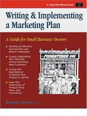 Cover of: Crisp: Writing & Implementing a Marketing Plan