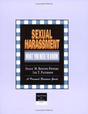 Cover of: Crisp: Sexual Harassment