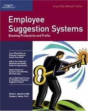 Cover of: Employee suggestion systems