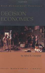 Cover of: Decision Economics | Alfred Richard Oxenfeldt