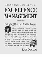Cover of: Excellence in management