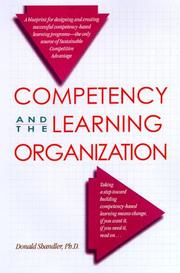 Cover of: Competency and the learning organization