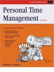 Cover of: Personal Time Management (Crisp Fifty-Minute Series)