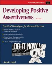 Cover of: Developing positive assertiveness