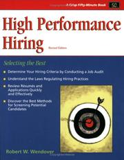 Cover of: High performance hiring