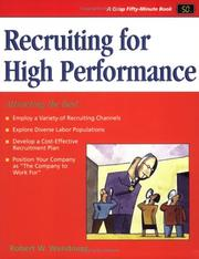 Cover of: Crisp: Recruiting for High Performance | Robert Wendover