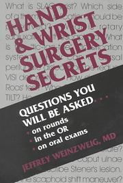 Cover of: Hand and Wrist Surgery Secrets