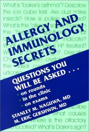 Cover of: Allergy and Immunology Secrets