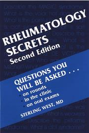Cover of: Rheumatology Secrets | Sterling West
