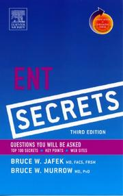 Cover of: ENT Secrets | Bruce Jafek