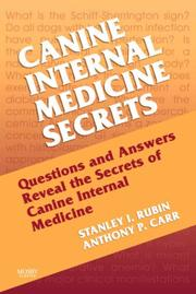 Cover of: Canine Internal Medicine Secrets | Stan Rubin