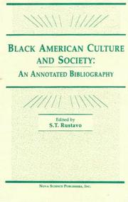 Cover of: Black American Culture and Society