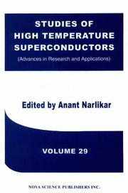 Cover of: Studies of High Temperature Superconductors