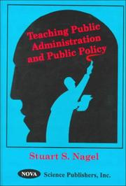 Cover of: Teaching Public Administration and Public Polciy