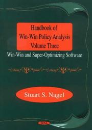 Cover of: Handbook of win-win policy analysis