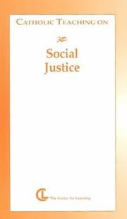 Cover of: Catholic Teaching on Social Justice (Catholic Teaching Series) | Carla E. Fritsch