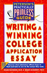 Cover of: Writing a winning college application essay