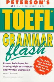 Cover of: Peterson's TOEFL grammar flash