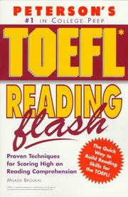 Cover of: Peterson's TOEFL reading flash