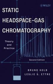 Cover of: Static headspace-gas chromatography