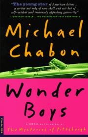 Cover of: Wonder Boys (Bookcassette(r) Edition) |