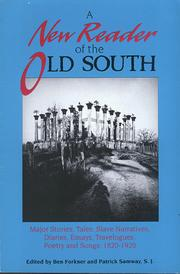 Cover of: A New reader of the Old South |