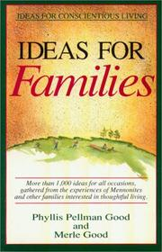 Cover of: Ideas for families