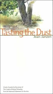 Cover of: Tasting the dust: poems