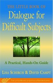 Cover of: The Little Book of Dialogue for Difficult Subjects | Lisa Schirch