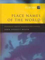Cover of: Place Names of the World Volume 1, Europe