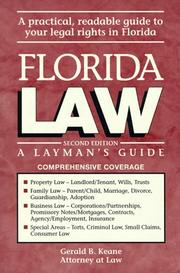Florida law by Gerald B. Keane
