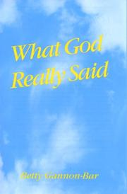 Cover of: What God Really Said